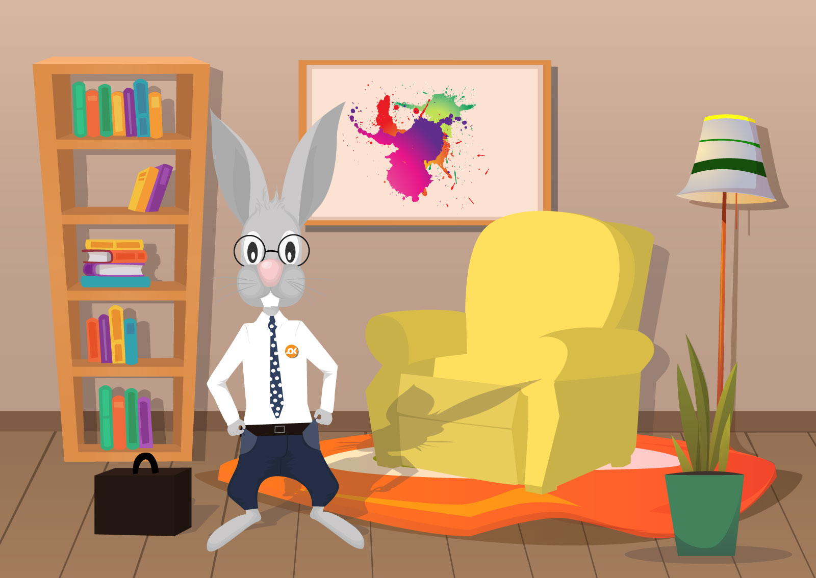 Ilustracija zeca koji pokazuje prazne džepove jer nema novca