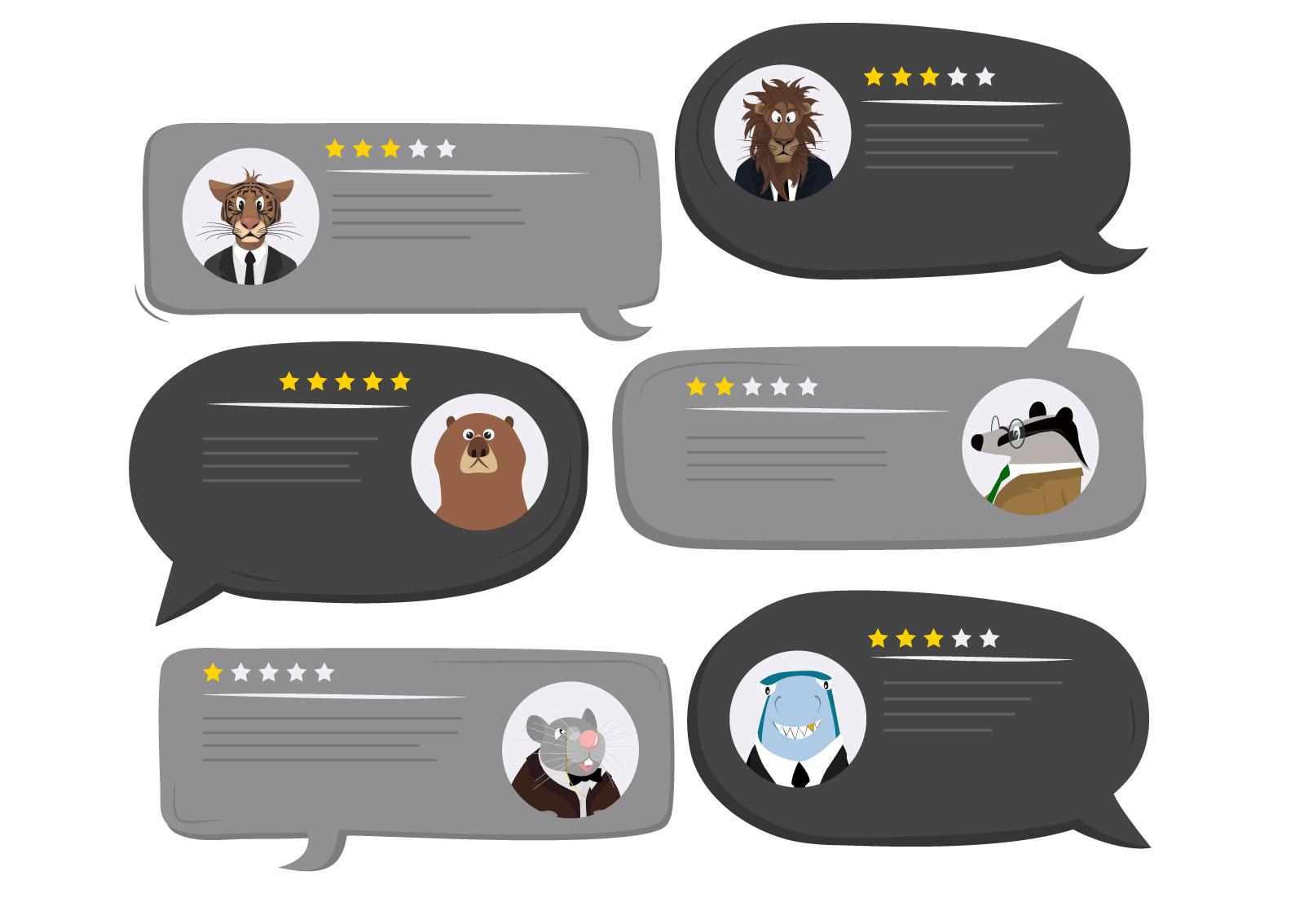 Ilustracija komentara i ocena na Google My Business-u koji su ostavljali ostali korisnici
