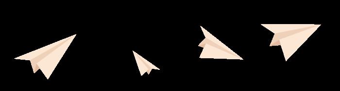 Ilustracija papirnih aviona kako lete