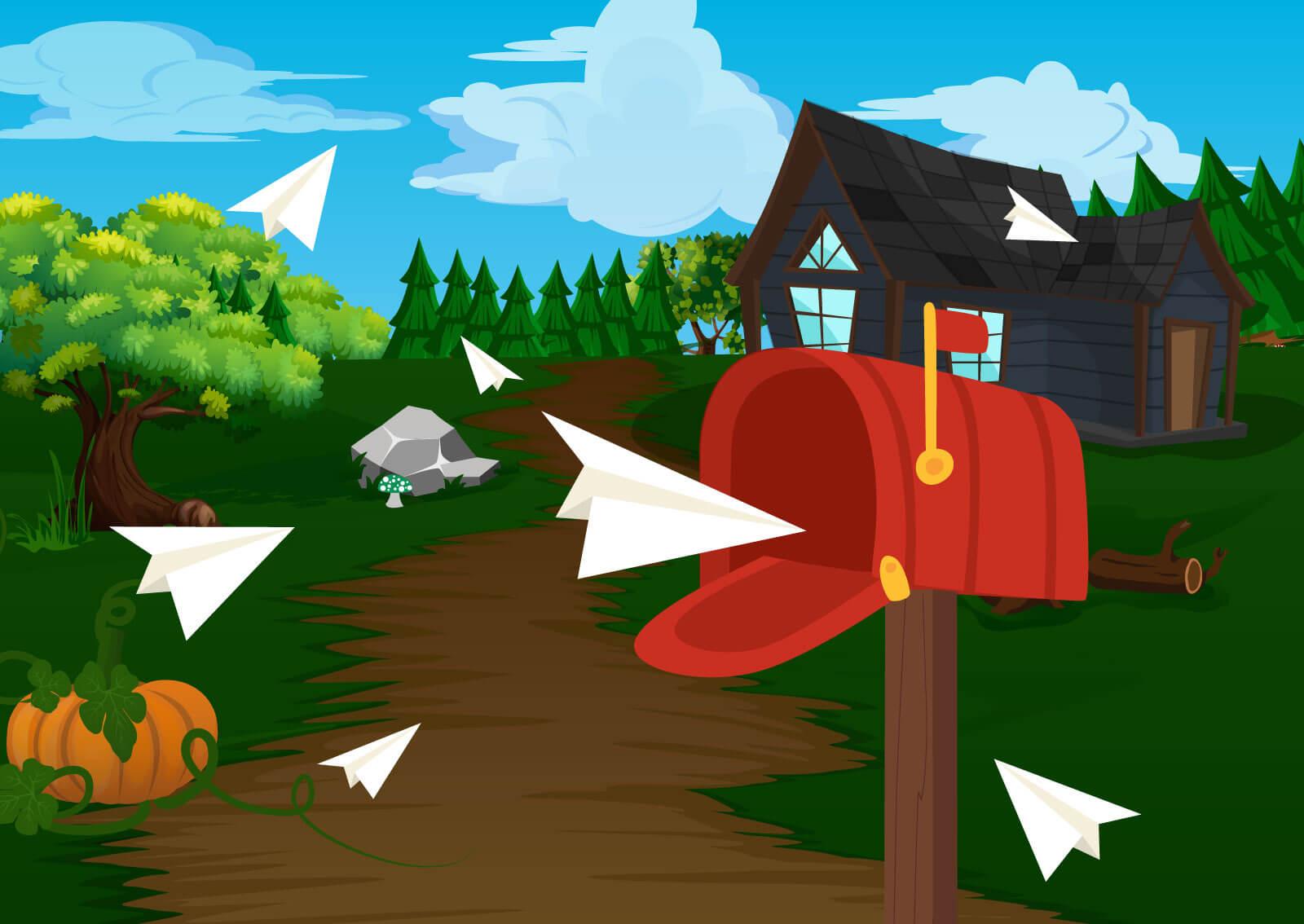 Ilustracija poštanskog sandučeta u koji doleću mailovi koja pokazuje koliko efektno može biti e-mail oglašavanje