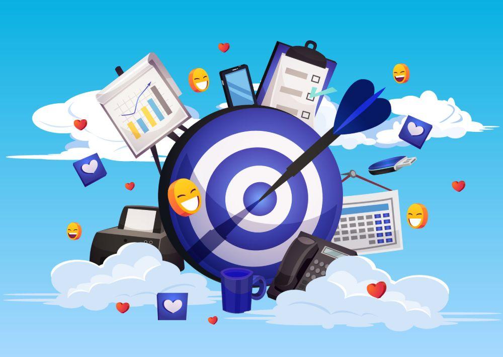 Ilustracija koja prikazuje načine targetiranja u Facebook Business Manager-u