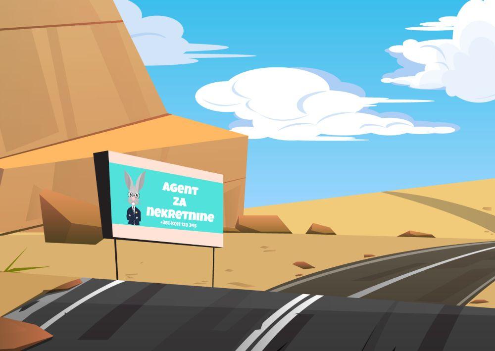 Ilustracija bilborda u pustinji koja pokazuje koliko je važno odabrati placement za Facebook i Instagram reklamu