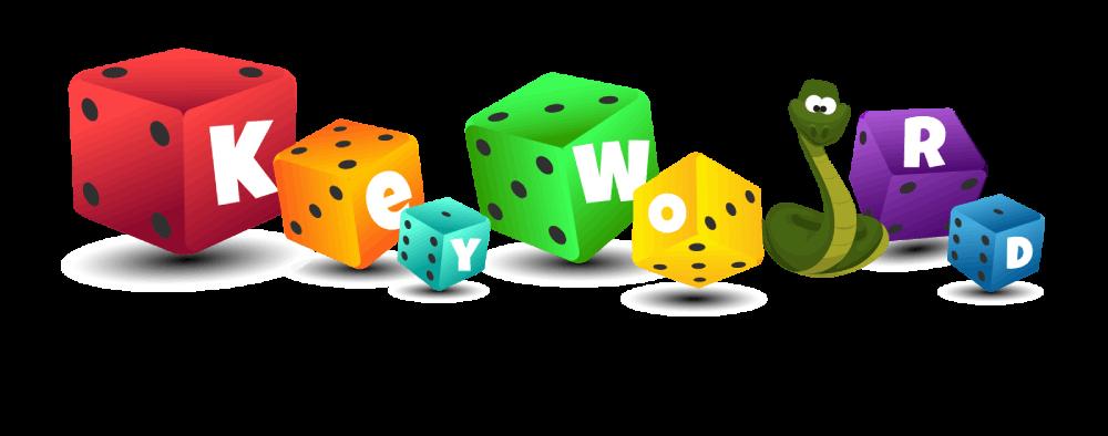Islustracija kockica i zmijice na kojima piše Keyword planner