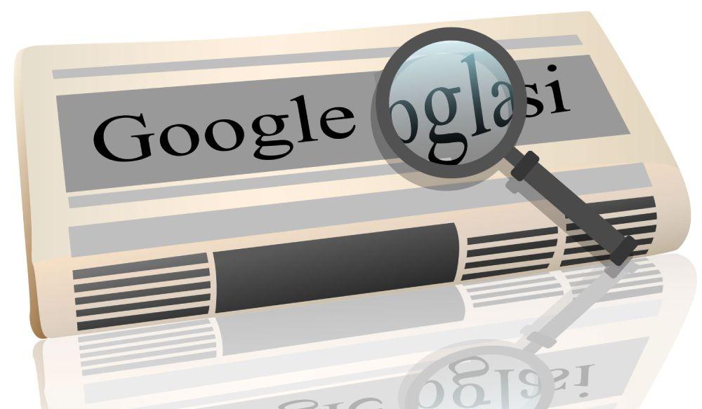 Ilustracija novina sa natpisom - Google koji pokazuje zašto je Google reklama bolja od novinskih