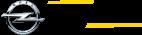 Crnim slovima ispisano beoauto sa dve žute linije, jedna iznad a druga ispod natpisa