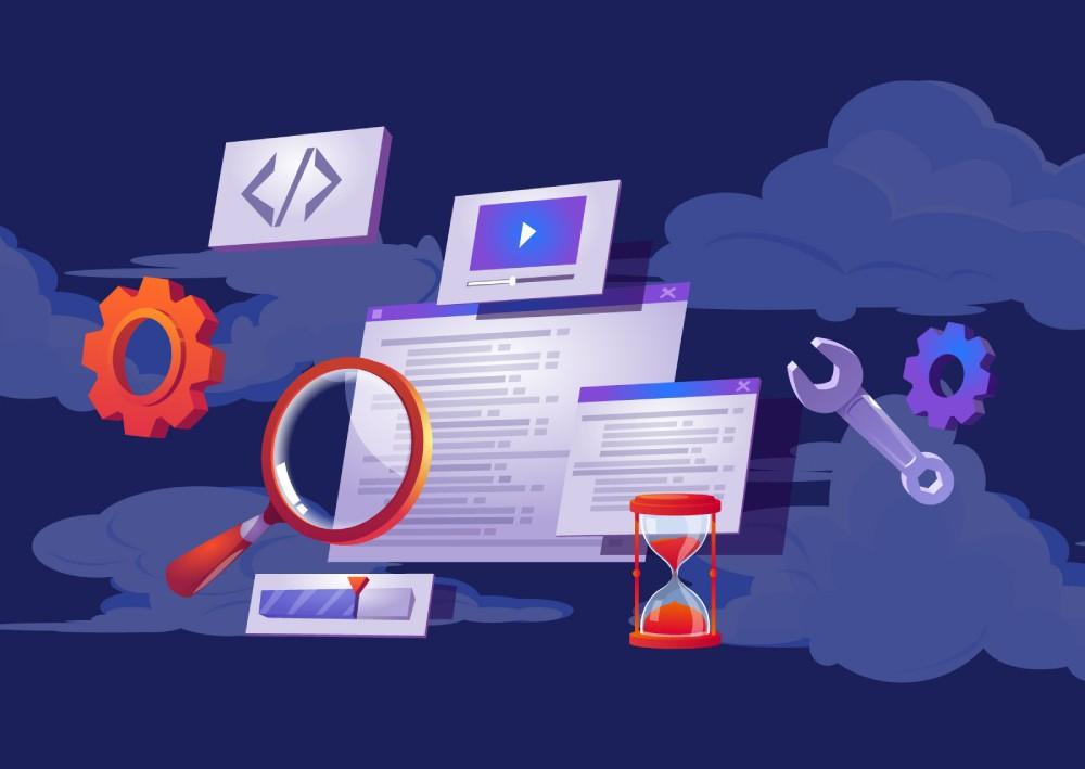 Ilustracija website-a sa Facebook pixel kodom koji smanuje vreme i poboljšava marketing