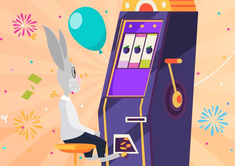 Ilustracija zeca koji pogađa dobitnu kombinaciju