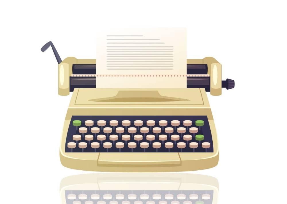 Ilustracija: Kako je izgledalo pisanje sadržaja za firme nekada na pisaćoj mašini