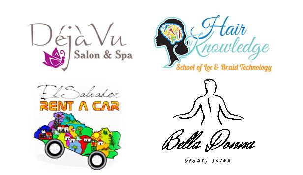 Prikaz logoptipa salona lepote, spa i frizerskih sa lošim odabirom fonta
