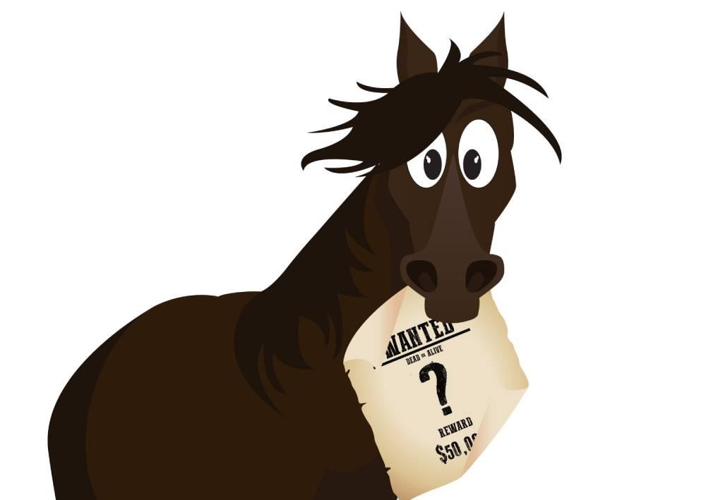 Ilustracija konja koji drži natpis Wanted i ilustruje kako je najtraženija ključna i najskuplja, ali i najopasnija