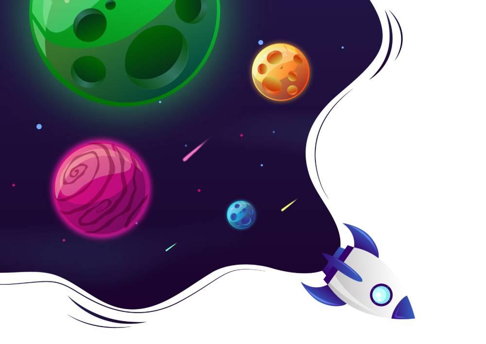 Ilustracija rakete koja predstavlja na koji način korisnik sleće na tvoju prodajnu stranicu