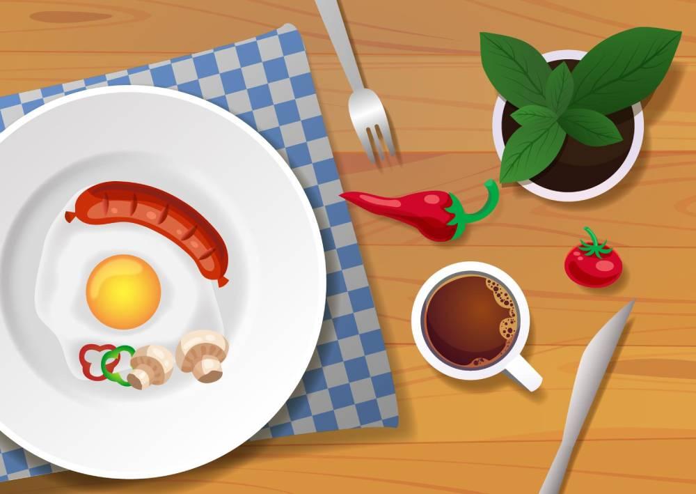 Ilustracija koja pokazuje kako treba da izgleda fotografija hrane za društvene mreže Facebook i Instagram